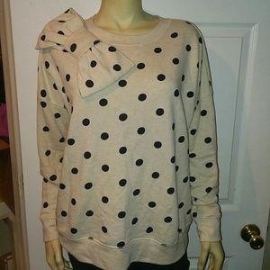 Kate Spade polka dot sweatshirt size small